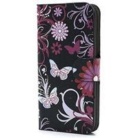 iPhone 5 / 5S / SE Wallet Hoesje - Vlinders / Bloemen