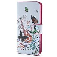iPhone 5 / 5S / SE Wallet Hoesje - Vlinders / Cirkels