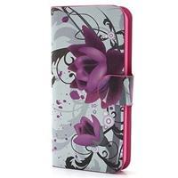 iPhone 5 / 5S / SE Wallet Hoesje - Lotusbloem