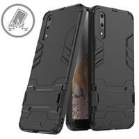 Huawei P20 Armor Hybrid Case met Standaard - Zwart
