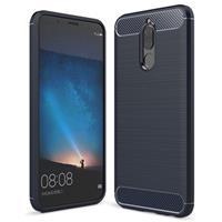 Huawei Mate 10 Lite Geborsteld TPU Case - Koolstofvezel - Donkerblauw