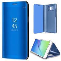 Huawei Mate 10 Luxury Mirror View Flip Cover - Blauw