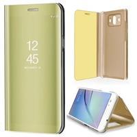 Huawei Mate 10 Luxury Mirror View Flip Cover - Goud
