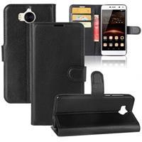 Huawei Y6 (2017) / Y5 (2017) Textured Wallet Case - Zwart