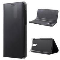 Luxury Mirror View Huawei Mate 10 Lite Flip Cover - Zwart