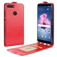 Huawei P Smart Verticale Flip Cover met Creditcard-slot - Rood