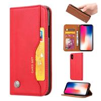 Card Set Serie iPhone XS Max Wallet Case - Rood