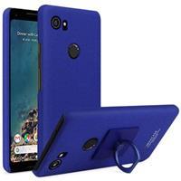 Google Pixel 2 XL Imak Ring Cover met Screenprotector - Blauw