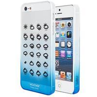 iPhone 4 / 4S Code Weather Hard Cover - Blauw / Doorzichtig