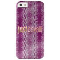 iPhone 5 / 5S / SE Puro Just Cavalli Glanzende Python Harde Case - Roze