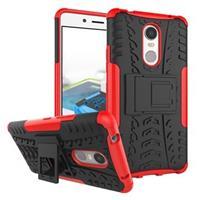 Lenovo K6 Note Anti-Slip Hybrid Case - Zwart / Rood