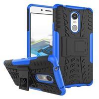 Lenovo K6 Note Anti-Slip Hybrid Case - Zwart / Blauw