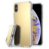iPhone X / iPhone XS Mirror Cover - Goud