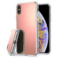 iPhone X / iPhone XS Mirror Cover - Rose Gold