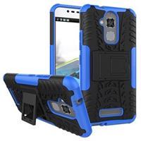 Asus Zenfone 3 Max ZC520TL Anti-Slip Hybrid Case - Zwart / Blauw