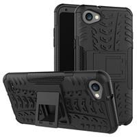 LG Q6, Q6+ Anti-Slip Hybrid Case - Zwart