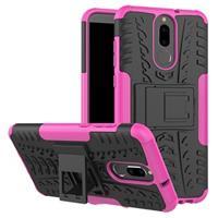 Huawei Mate 10 Lite Anti-Slip Hybrid Case - Roze / Zwart