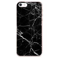 B2Ctelecom Apple iPhone SE | 5S Uniek TPU Hoesje Marmer Zwart