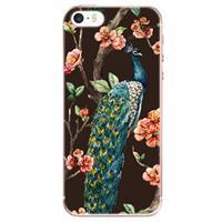 B2Ctelecom Apple iPhone SE | 5S Uniek TPU Hoesje Pauw met Bloemen