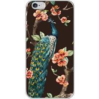 B2Ctelecom Apple iPhone 6 | 6S Uniek TPU Hoesje Pauw met Bloemen