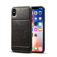 Apple iPhone XS Max TPU Hoesje Zwart met Pashouder