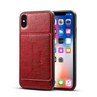 Apple iPhone XS Max TPU Hoesje Bordeaux met Pashouder