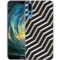 B2Ctelecom Huawei P20 Pro TPU Hoesje Abstract Zwart en Wit