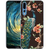 B2Ctelecom Huawei P20 Pro TPU Hoesje Pauw met Bloemen