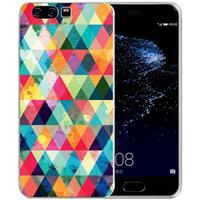 B2Ctelecom Uniek TPU Hoesje Geruit Huawei P10 Plus