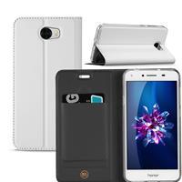 B2Ctelecom Huawei Y5 2 | Y6 Compact Hoesje Wit met Opbergvakje