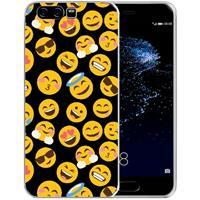 B2Ctelecom Uniek TPU Hoesje Emoji's Huawei P10