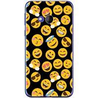 B2Ctelecom HTC U Play Uniek TPU Hoesje Emoji's