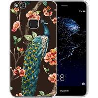 B2Ctelecom Huawei P10 Lite Uniek TPU Hoesje Pauw met Bloemen