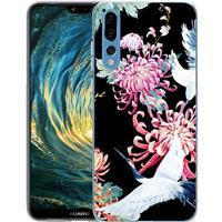 B2Ctelecom Huawei P20 Pro TPU Hoesje Birds and Flowers