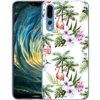 B2Ctelecom Huawei P20 Pro TPU Hoesje Flamingo Palms
