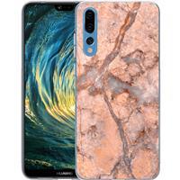 B2Ctelecom Huawei P20 Pro TPU Hoesje Marmer Oranje