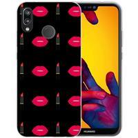 B2Ctelecom Huawei P20 Lite Uniek TPU Hoesje Make Up
