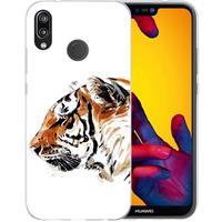 B2Ctelecom Huawei P20 Lite Uniek TPU Hoesje Tijger