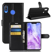 Huawei P Smart Plus Hoesje Zwart met Pasjeshouder