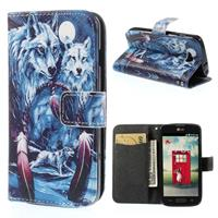 B2Ctelecom LG L90 Wallet Stand Case Wolves