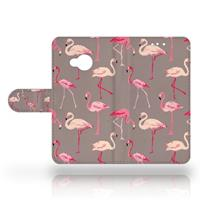 B2Ctelecom HTC U Play Uniek Design Hoesje Flamingo's