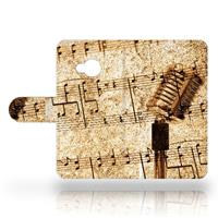 B2Ctelecom HTC U Play Uniek Design Hoesje Muziekblad