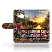 B2Ctelecom HTC U Play Uniek Design Hoesje Amsterdamse Grachten
