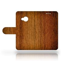 B2Ctelecom HTC U Play Uniek Design Hoesje Hout