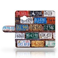 B2Ctelecom HTC U Play Uniek Design Hoesje Kentekenplaten