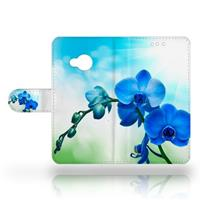 B2Ctelecom HTC U Play Uniek Design Hoesje Blauwe Orchideeën
