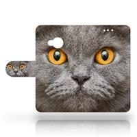B2Ctelecom HTC U Play Uniek Design Hoesje Britse Kat