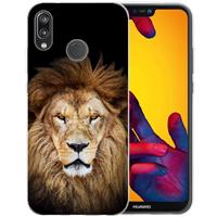 B2Ctelecom Huawei P20 Lite Uniek TPU Hoesje Leeuw