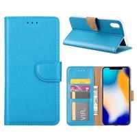 Apple iPhone Xs Max Hoesje Turquoise met Pasjeshouder