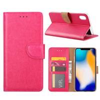 Apple iPhone Xs Max Hoesje Roze met Pasjeshouder